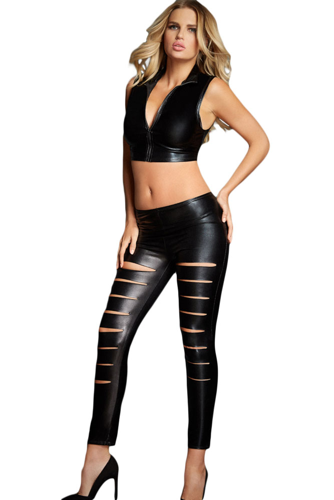 2930b35d6c8799 leather look leggings | Wear It Out