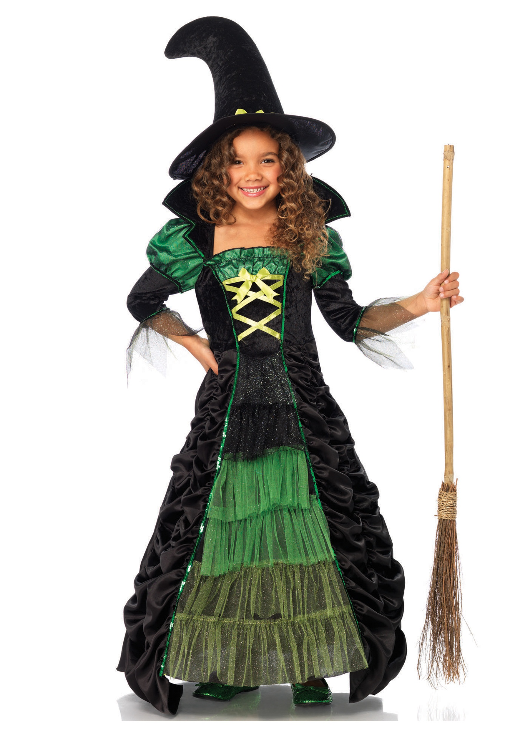Girls Deluxe Witch Wear It Out