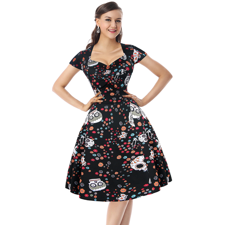 256c4a95e47 Sugar skull swing dress